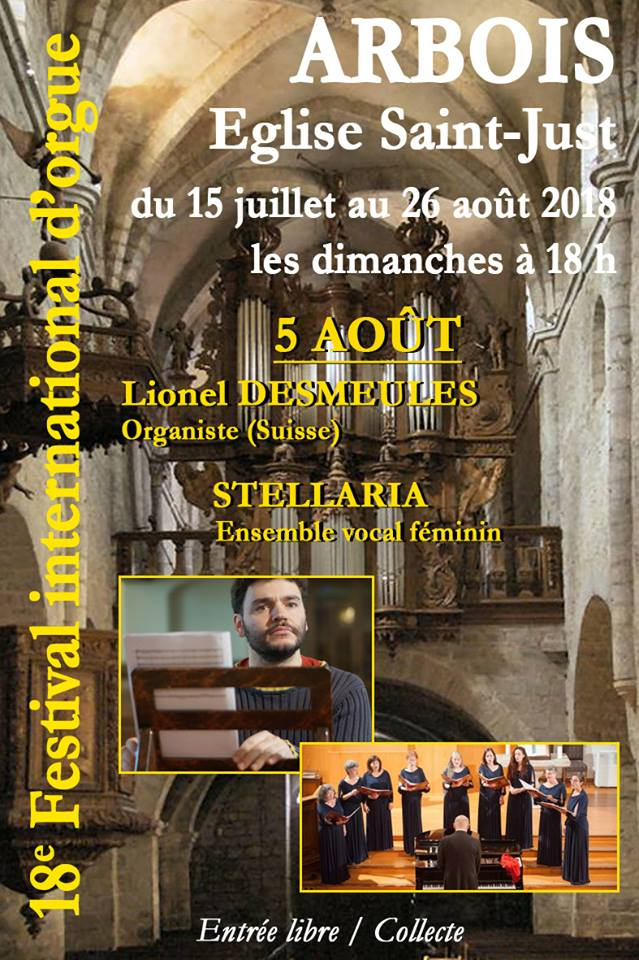 Festival International d'Orgues - Arbois 2018